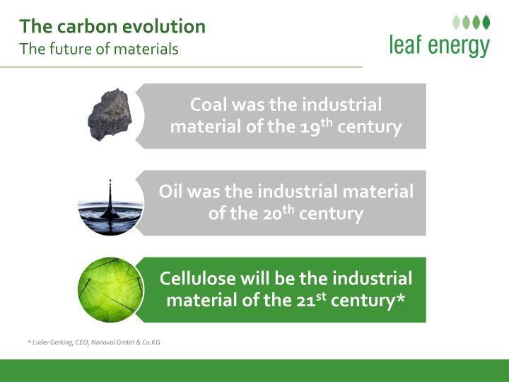 The carbon evolution
