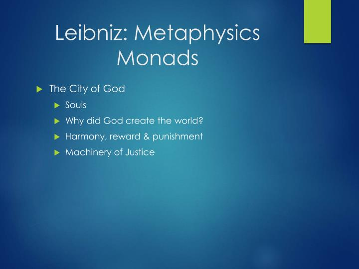 Leibniz: Metaphysics