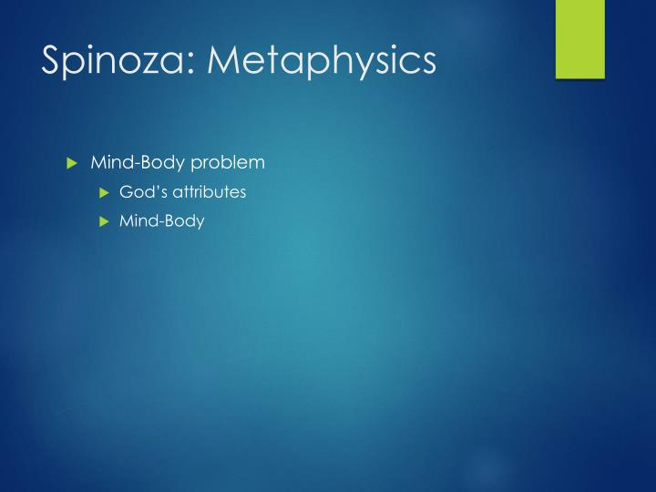 Spinoza: Metaphysics