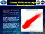 ozone validation against requirements