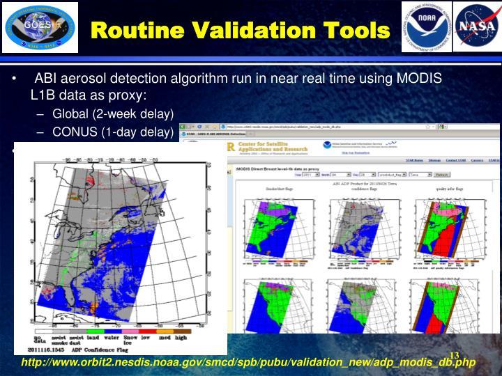 Routine Validation Tools