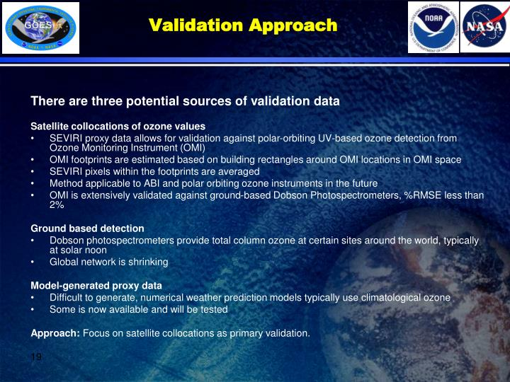 Validation Approach