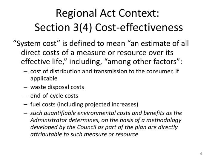 Regional Act Context: