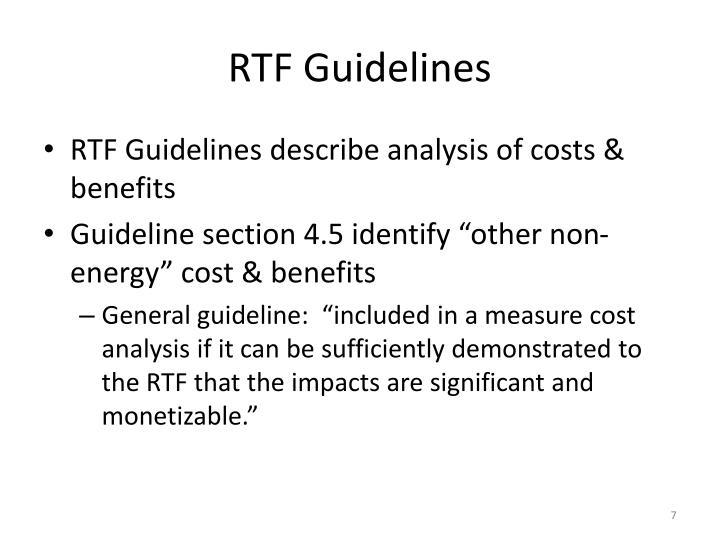 RTF Guidelines