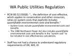 wa public utilities regulation