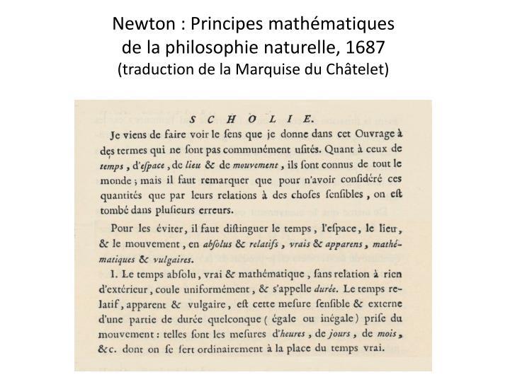 Newton : Principes mathématiques
