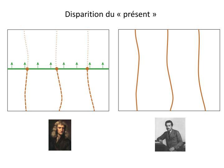 Disparition du «présent»