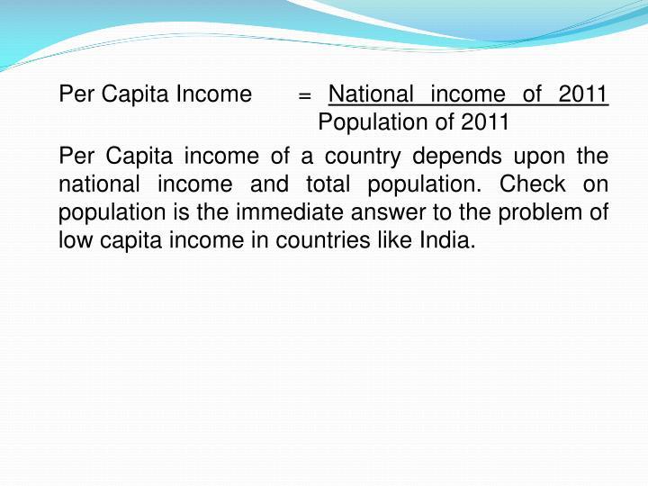 Per Capita Income=