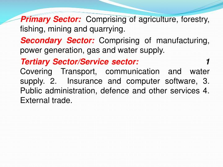 Primary Sector:
