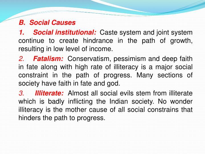B.  Social Causes