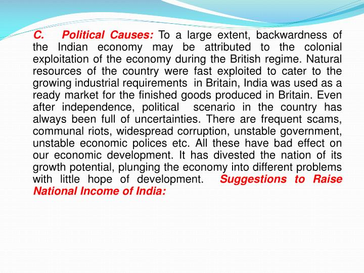 C. Political Causes: