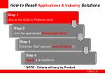 how to resell applications industry solutions