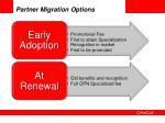 partner migration options