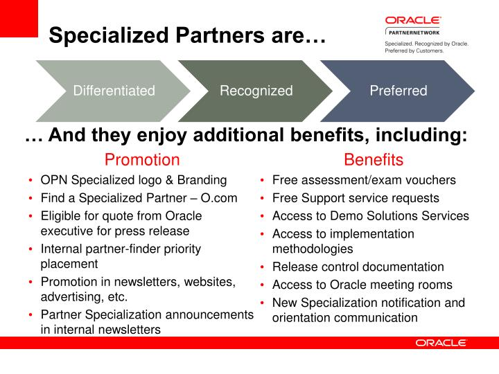 Specialized Partners are…