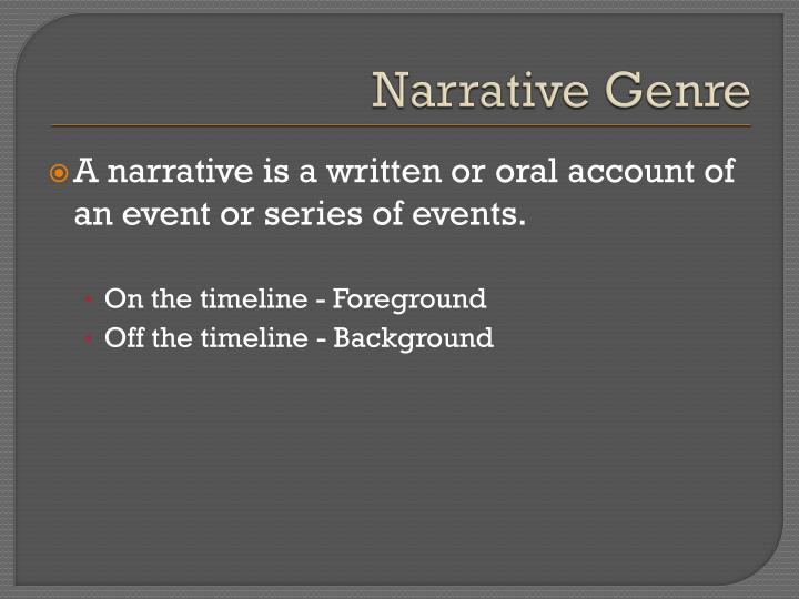 Narrative Genre