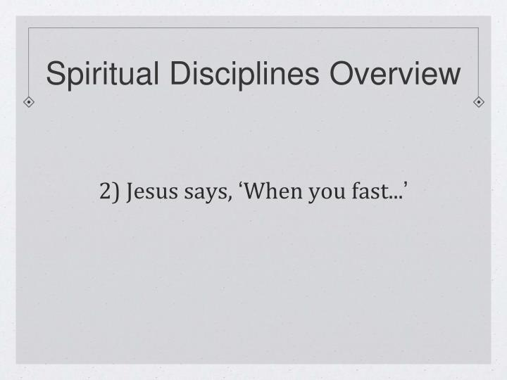 Spiritual Disciplines Overview