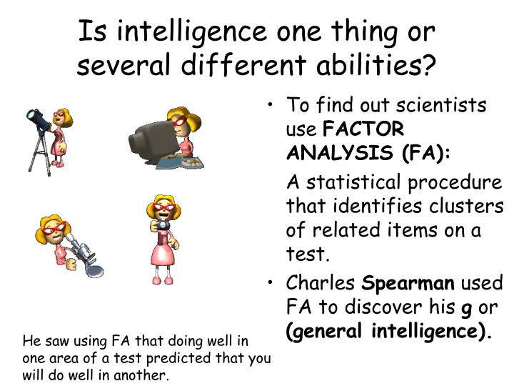 Is intelligence one thing or several different abilities?