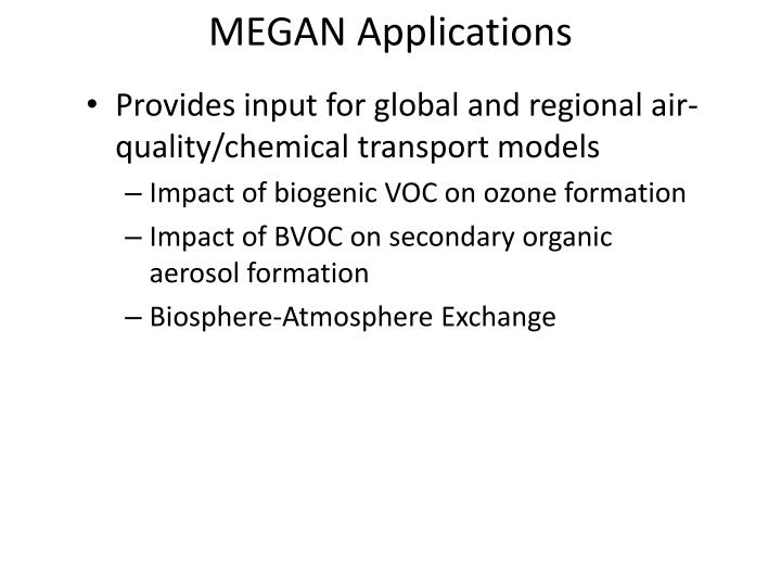 MEGAN Applications