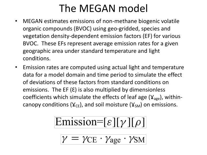 The MEGAN model
