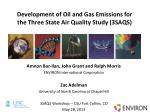 development of oil and gas emissions for the three state air quality study 3saqs