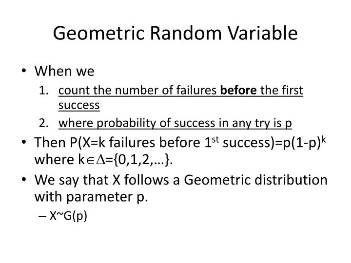 Geometric Random Variable
