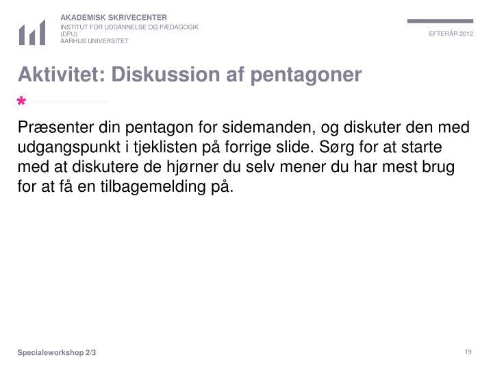 Aktivitet: Diskussion af pentagoner
