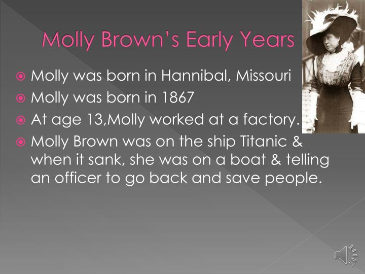 Molly brown s early years