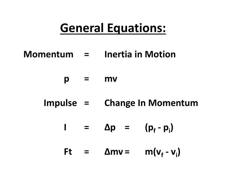 General Equations: