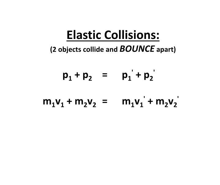 Elastic Collisions: