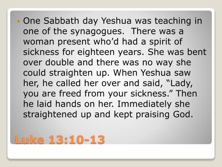 One Sabbath day