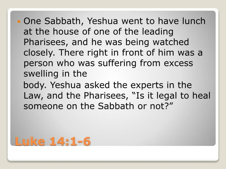 One Sabbath,