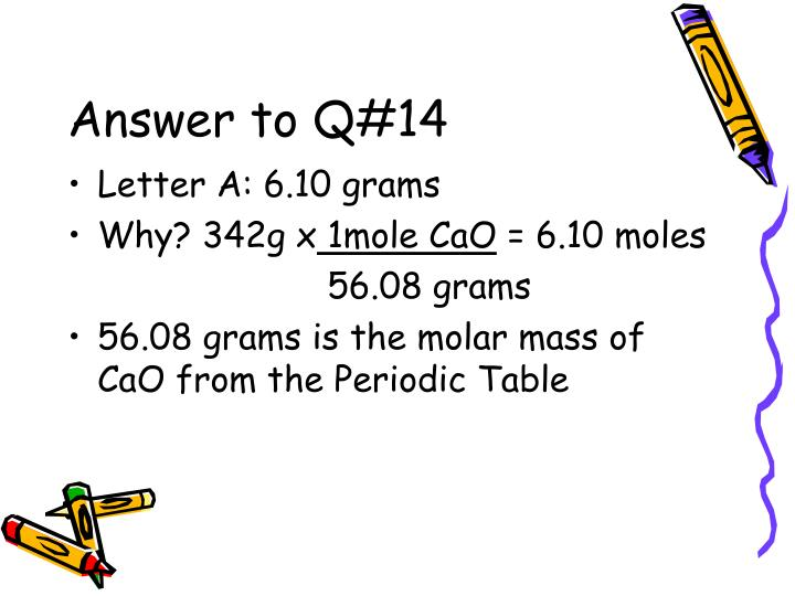 Answer to Q#14