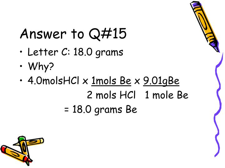 Answer to Q#15