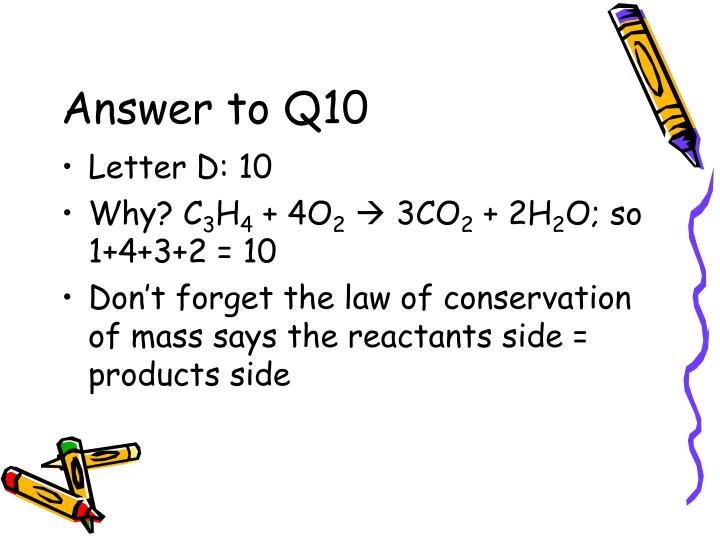 Answer to Q10