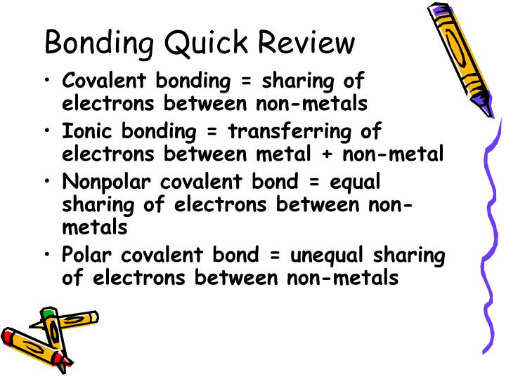 Bonding Quick Review