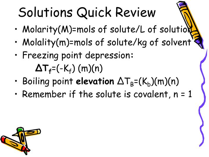 Solutions Quick Review