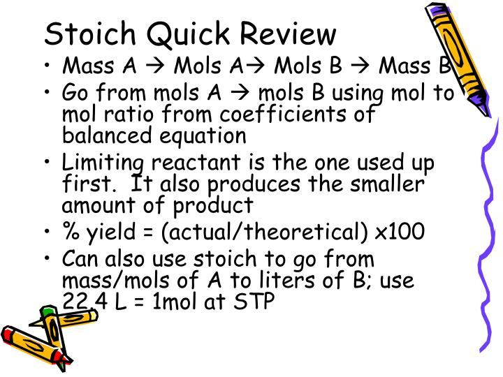 Stoich Quick Review