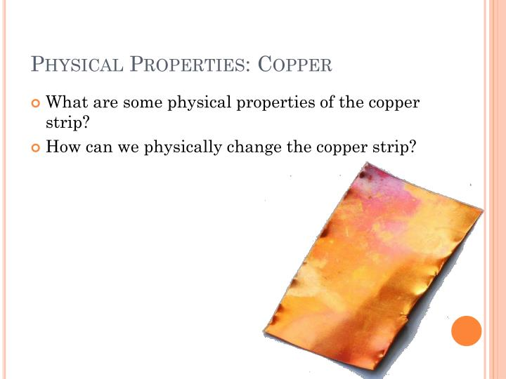 Physical properties copper