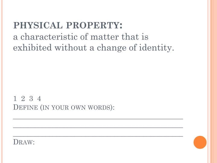 physical property:
