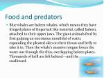 food and predators