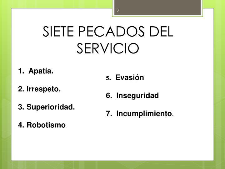 SIETE PECADOS DEL SERVICIO