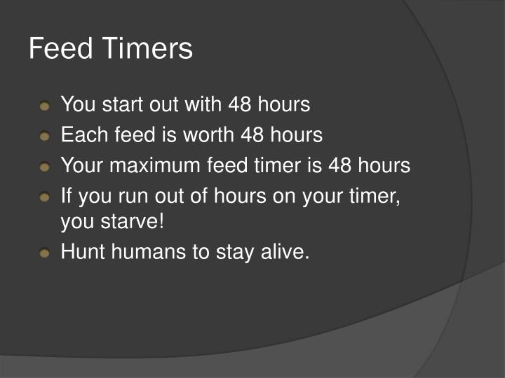 Feed Timers
