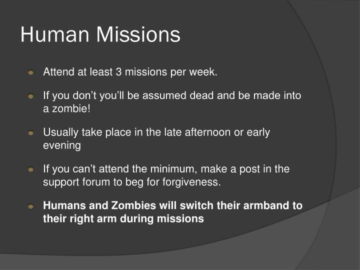 Human Missions