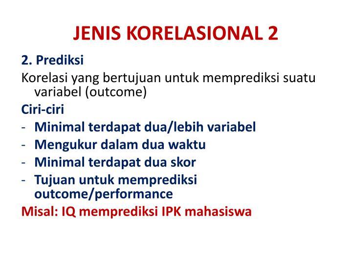 JENIS KORELASIONAL 2