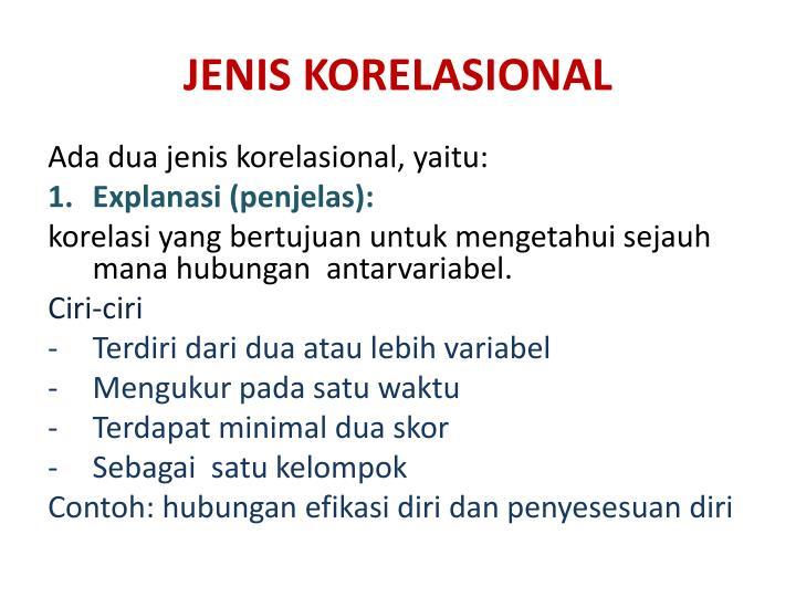 JENIS KORELASIONAL