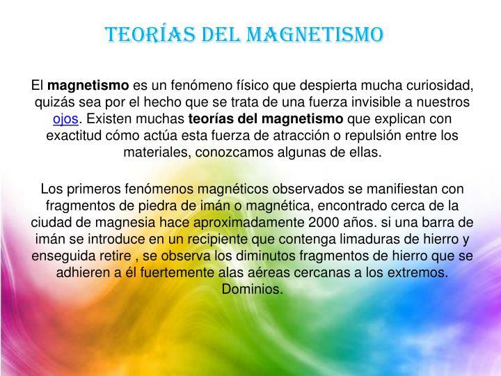 Teorías del magnetismo