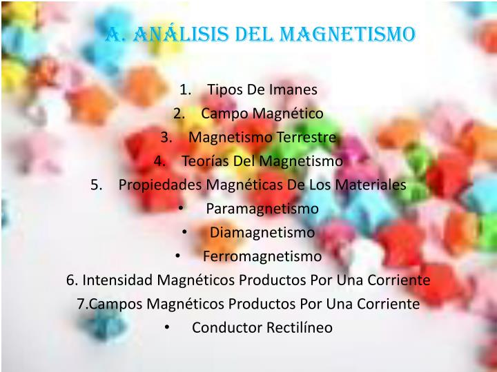 A. ANÁLISIS DEL MAGNETISMO