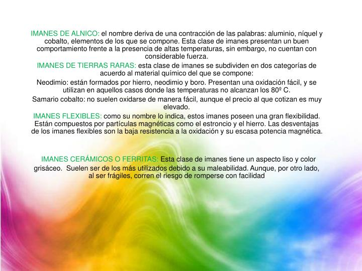 IMANES DE ALNICO: