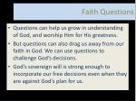 faith questions