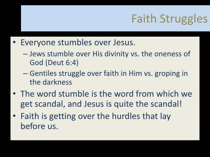 Faith Struggles
